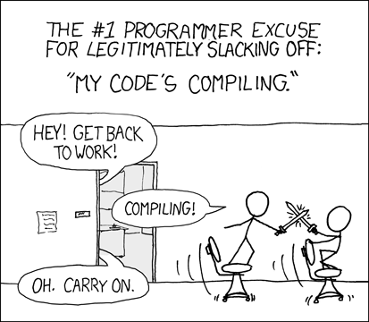 """""""Are you stealing those LCDs?"""" """"Yeah, but I'm doing it while my code compiles."""""""