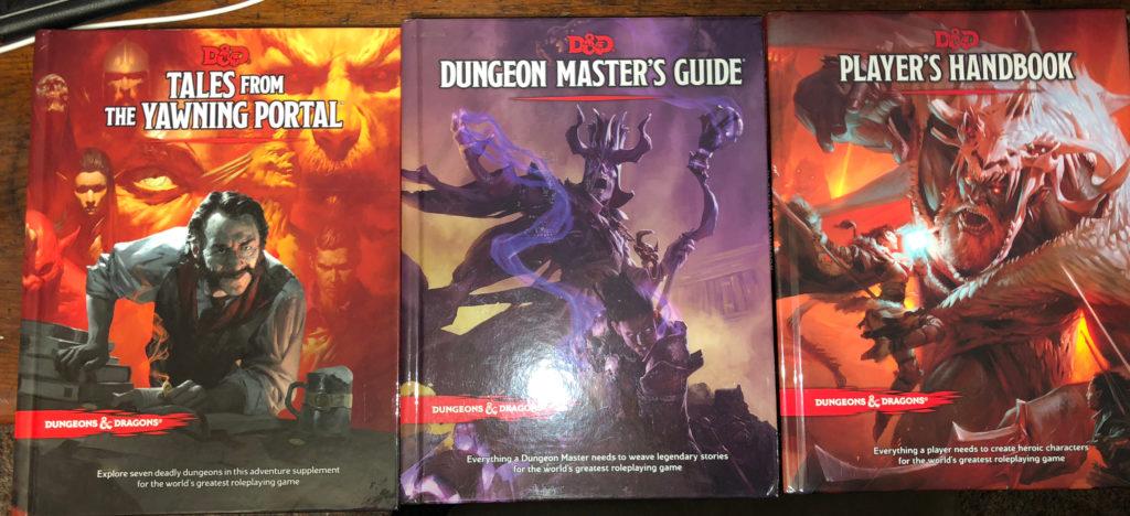 D&D 5E 3 books